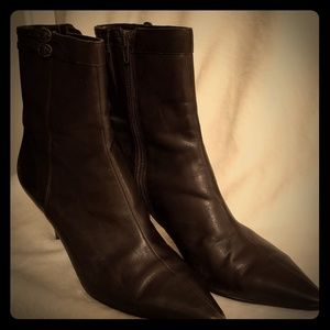 Ann Taylor Loft Bettina Brown Leather boots